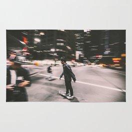 Skate in street 4 Rug