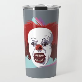Evil clown it halloween Travel Mug