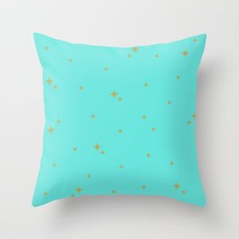 Turquoise Starburst Pattern Throw Pillow