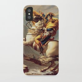 Napoleon Crossing the Alps - Jacques-Louis David iPhone Case