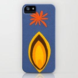 de Flower [blue] iPhone Case