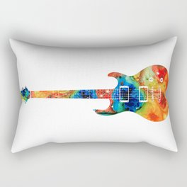 Colorful Electric Guitar 2 - Abstract Art By Sharon Cummings Rectangular Pillow