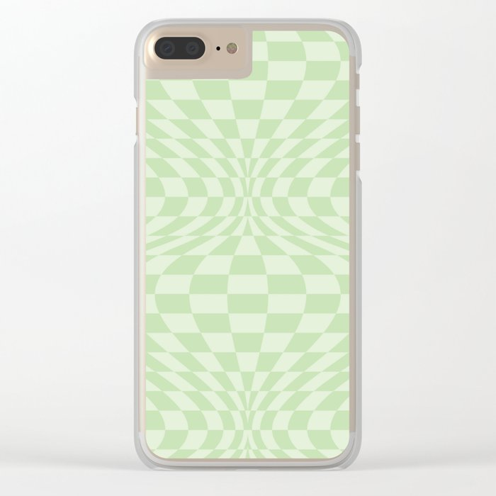 Greens - Optical Game 25 Clear iPhone Case
