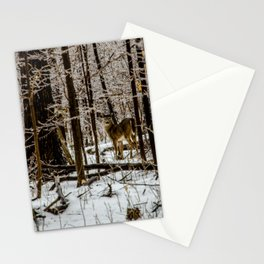 Deer in the Glistening Forest by Teresa Thompson Stationery Cards