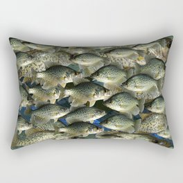 Crappie Camo Rectangular Pillow
