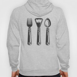 Life set. Lover to eat. Hungry. Glutton. Food Lover. Spoon and a fork. Heavy eater. Eat. Food. Hoody