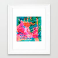 paradise Framed Art Prints featuring Paradise by Amy Sia