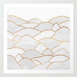 White Hills Art Print