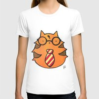 potter T-shirts featuring Kitty Potter  by JessicaAndersonArt