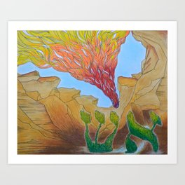 Burning Aish Art Print