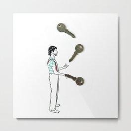 Key owner - By Teti Metal Print