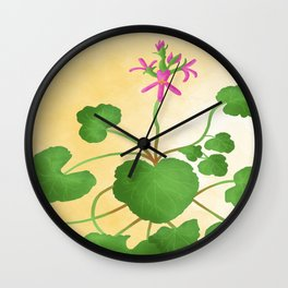 pelargonium grossularioides- fruit/coconut scented leaf Wall Clock