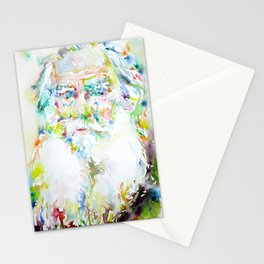 LEO TOLSTOY - watercolor portrait Stationery Cards