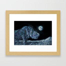 Sudan on the Moon Framed Art Print