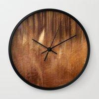 fern Wall Clocks featuring Fern by Mina Teslaru