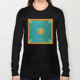 """""""Turquoise and Gold Mandala"""" Long Sleeve T-shirt"""