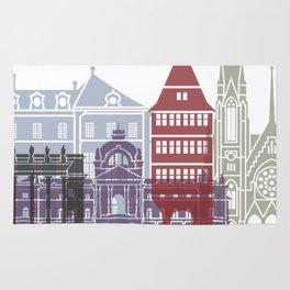 Strasbourg skyline poster Rug