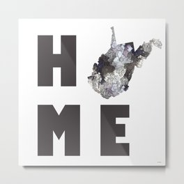 """West Virginia """"HOME"""" Metal Print"""