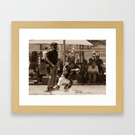 Hold Him Off Framed Art Print