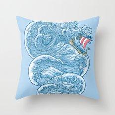 hello little dragon Throw Pillow
