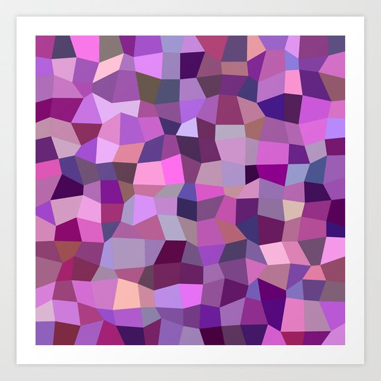Purplish tile mosaic Art Print