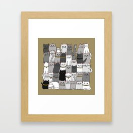 The Glaring - Scandinavian Palette Framed Art Print