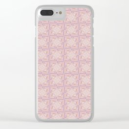 Peace is Soft Print Clear iPhone Case