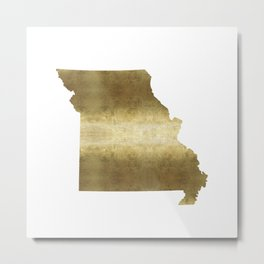 missouri gold foil state map Metal Print