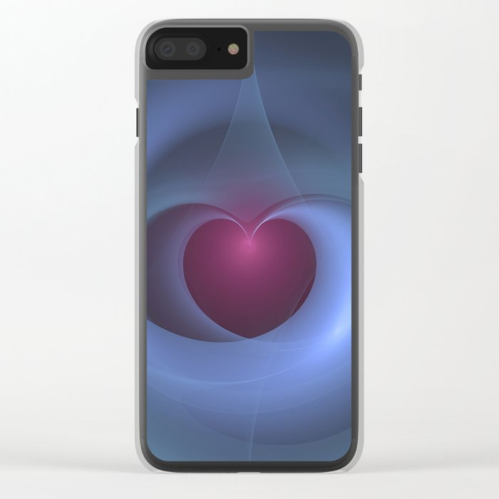 Take Care of My Heart Fractal Clear iPhone Case