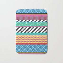 Colorful Washi Tape Graphic Bath Mat
