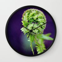 fern Wall Clocks featuring Fern by LoRo  Art & Pictures