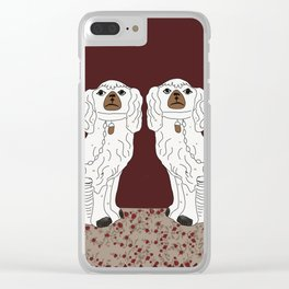Staffordshire Dogs Clear iPhone Case