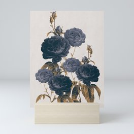 blue flowers Mini Art Print