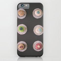 Six Cupcakes on Black Slim Case iPhone 6s