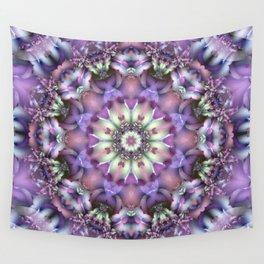 Lilac Mandala Wall Tapestry
