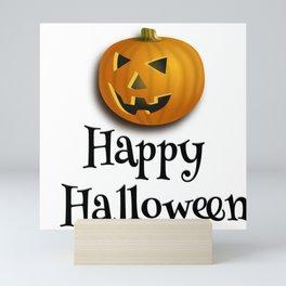 Halloween pumpkin  theme tshirt  Mini Art Print