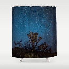 Midnight Stars at Joshua Tree Shower Curtain