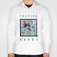 talking heads Hoodies featuring Talking Heads Limited Edition Music Poster Print by Nick Howland