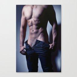 Sexy muscular man Canvas Print