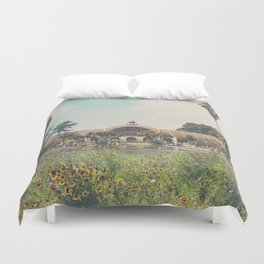 the botanical building in Balboa Park, San Diego Duvet Cover