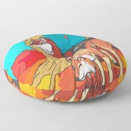 Autumn Wolves Floor Pillow