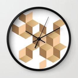 cubes deconstruction Wall Clock