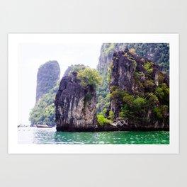 Cliffs in Thailand Art Print