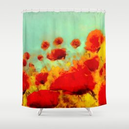 FLOWERS - Poppy time Shower Curtain