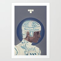 tron Art Prints featuring Tron by Perry Misloski