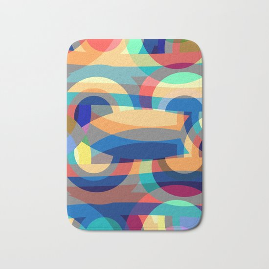 Marine abstraction II Bath Mat