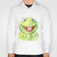 kermit Hoodies featuring Kermit Portrait by Olechka