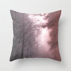 Mystical Tree Path Throw Pillow