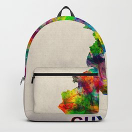 Guyana Map in Watercolor Backpack