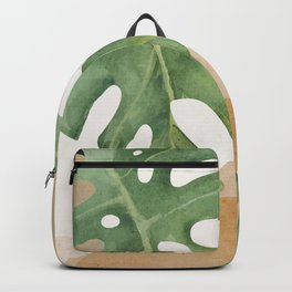 Abstract Art Tropical Leaves 3 Backpack